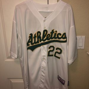 Official Athletics jersey Carter number 22
